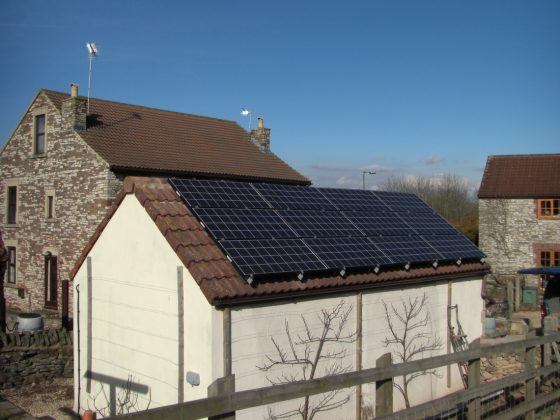 Solar Panel Installation on Garage in Somerset