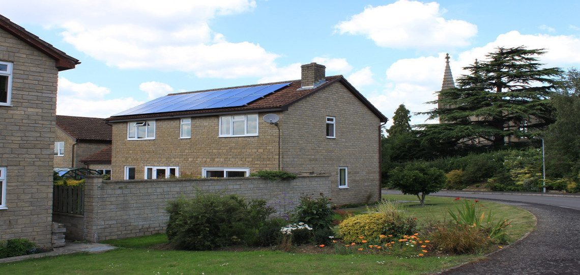 REC Solar modules installed near Frome