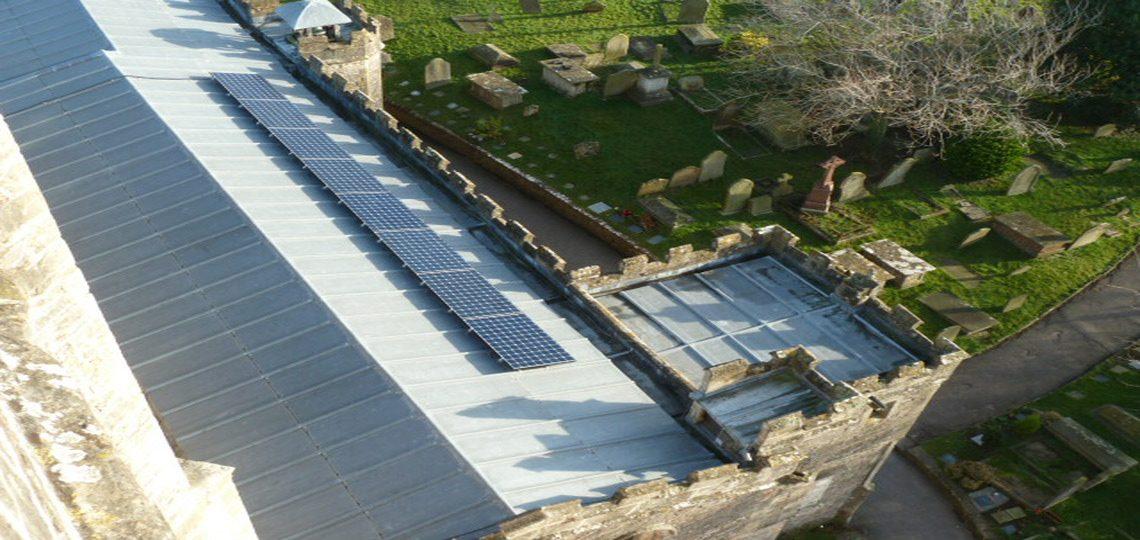 Installing Solar Panels at Holy Trinity Church