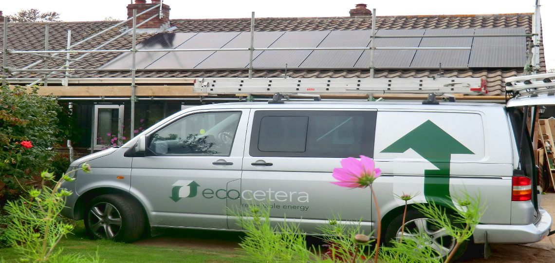 Winterbourne Solar PV Array Installation with LG solar modules