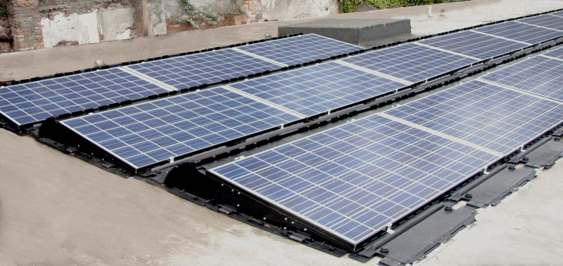 Community Solar Panel Installation