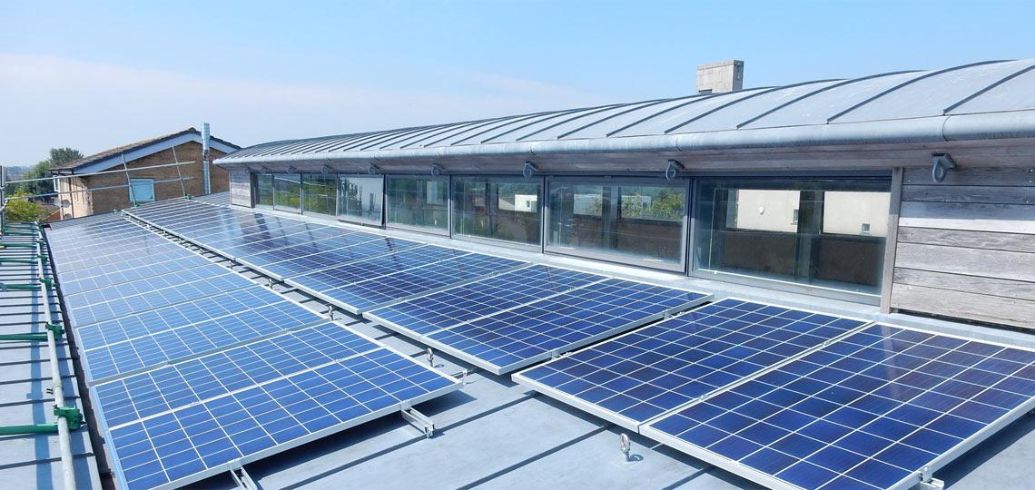 Community Solar Panel Array Installed On Inns Court