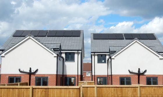 New build solar panel installation Bishopsworth