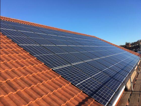 integrated solar panel installation
