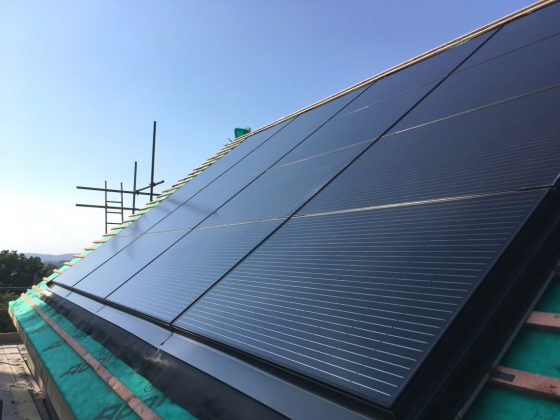 Work in progress of a roof integrated solar panel system.